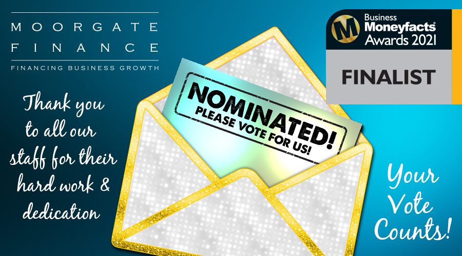 Business Moneyfacts award nomination for Moorgate Finance